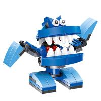 万格乐博士塑料扭蛋恐龙玩具儿童益智力小颗粒拼装积木3-6周岁