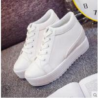 休闲白鞋内增高女鞋韩版潮流学生百搭新款厚底网红小白鞋