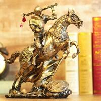 客厅摆件玄关摆件卧室摆件中世纪盔甲模型复古罗马铠甲勇士创意酒吧摆件工艺品骑士战马武士hd