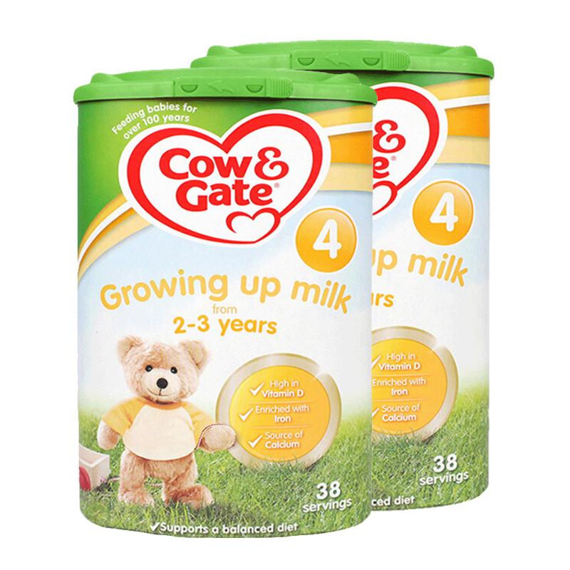【4段】 保税区发货英国Cow&Gate牛栏 婴幼儿奶粉 四段(2-3岁) 800g*2罐 海外购 新老包装随 机发货