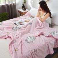 君别商场被子冬天单人雪花绒法兰绒毛毯薄款小毯子珊瑚绒午睡空调毛巾