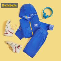 巴拉巴拉儿童套装男童秋冬2019新款中大童时尚运动加绒保暖两件套
