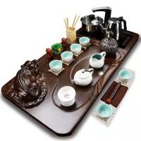 白瓷水滴招财貔貅四合一套装紫砂功夫茶具套装整套家用茶壶茶杯实