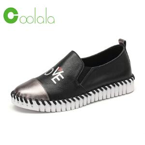 红蜻蜓coolala女鞋 欧美潮流套脚女鞋舒适平底平跟女士单鞋韩版