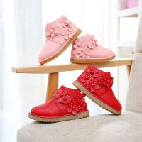 天儿童靴子1女童雪地靴2女宝宝软底3加绒4短靴5保暖棉鞋6岁