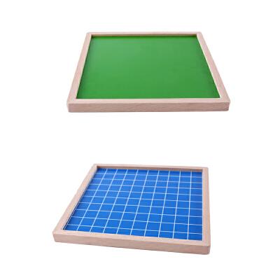 木制蒙特梭利教具数学教具榉木1-100数字连续板 儿童早教数字玩具
