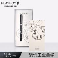 花花公子(PLAYBOY) 时光系列钢笔 男女学生用练字书写办公墨水钢笔礼盒 *可刻字