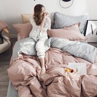 君别ins网红款四件套棉简约小清新卡通棉宿舍床上三件套1.5m被套 2米宽床用(适合220x240cm被芯) 床单款