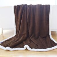 君别家纺北欧沙发毯子单人羊羔绒毛毯被子双层加厚毛毯单人学生冬季小被子 120X150cm