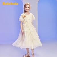 【3件5折价:125】巴拉巴拉女童裙子儿童连衣裙夏装大童公主裙网纱蛋糕裙女