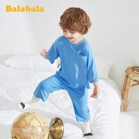 巴拉巴拉儿童家居服套装夏季薄款儿童家居服男女童小童宝宝睡衣潮