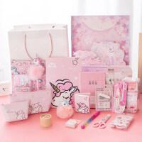 梦幻独角兽圣诞大礼包 紫粉色少女心文具套装礼盒 学生*奖品礼物开学