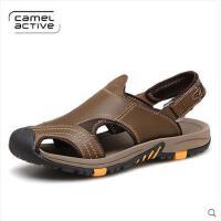 德国骆驼动感包头凉鞋 真皮透气沙滩鞋防滑舒适透气凉鞋男147118032