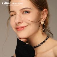 T400耳环韩国气质防过敏耳钉女个性简约20189