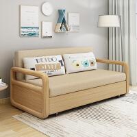 实木沙发床多功能1.5米可折叠客厅双人储物1.8小户型坐卧两用 1.5米-1.8米