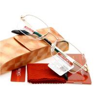 夕阳红 老花镜 品牌 超轻半框 抗疲劳男式老花眼镜夕阳红x8208