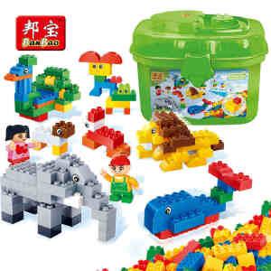 【当当自营】邦宝大颗粒儿童爱上幼儿园学前早教具积木教育玩具动物园6503