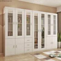 自由组合书柜实木带门简易书架置物架玻璃门简约现代书房柜子 ABC