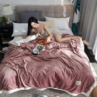 君别商场被子冬天单人双层毛毯加厚珊瑚绒毯子冬季床单法兰绒宿舍学生毛巾盖毯 200x230cm 约6.3斤