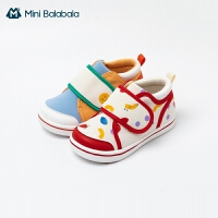 【底价秒杀:92.2元】迷你巴拉巴拉宝宝学步鞋2021春季男童女童鞋机能鞋防滑透气鞋子