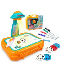 儿童幻灯片投影仪描绘涂鸦画画板便携收纳手提箱写字板
