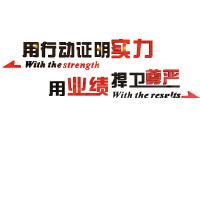 3d立体亚克力墙贴励志墙贴标语装饰公司企业单位办公室文化墙装饰 216 镜面银+镜面金 超