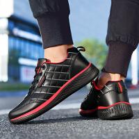 春季运动鞋男时尚新款鞋韩版跑步鞋男复古防水皮鞋学生休闲鞋男鞋