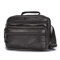 男包单肩包男士皮包包头层斜挎包竖款商务休闲斜跨小包