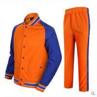 新款 定制全开扣裤训练长袖外套卫衣篮球出场服运动服套装男