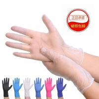 100只装一次性手套PVC橡胶乳胶食品加厚耐用加长家用美容女批发