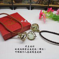 铜色镂空可打开的神秘盒子转运辟邪潘多拉魔盒夜光石项链夜光饰品