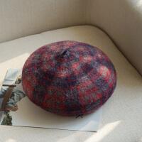 时尚帽子女贝雷帽 毛线帽秋韩版画家帽针织秋冬南瓜帽英伦蓓蕾帽