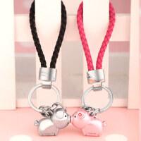 米勒斯情侣钥匙扣一对 男女汽车钥匙链挂件 韩圈国可爱猪创意定制