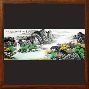 实力派画家郑群先《源远流长》毕业于广西艺术学院国画系BF0ML1124