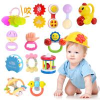 婴儿玩具 0-1岁 牙胶手摇铃套装 3-6-12个月新生儿宝宝玩具 婴幼儿