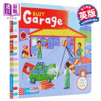 【中商原版】繁忙的车库 英文原版 Busy Garage Rebecca Finn