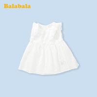 巴拉巴拉女童连衣裙宝宝公主裙儿童裙子洋气周岁礼服背心仙气纱裙