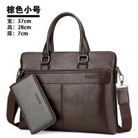 男包商务手提包横款男士包包 单肩包斜挎包休闲 公文包男皮包