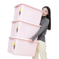 禧天龙大号52L收纳箱3个装衣服玩具整理箱大号防潮储物箱子收纳盒