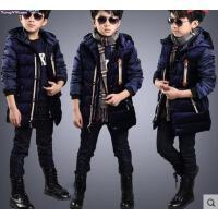 棉衣 男童外套 加厚保暖棉衣 童装男童韩版儿童棉衣中大童棉服加厚外套中长款棉袄