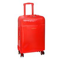 结婚行李箱24寸万向轮新娘陪嫁箱皮箱红色密码拉杆箱