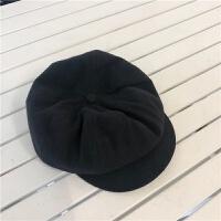 复古纯色八角帽子男女秋冬保暖英伦报童帽百搭画家帽 M(56-58cm)