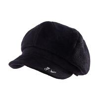 时尚帽子女秋冬天韩版时尚毛呢贝雷帽休闲百搭八角画家帽鸭舌帽