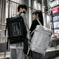 背包男士双肩包书包大学生时尚潮流高中生初中学生旅行休闲大容量