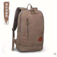 韩版休闲电脑包旅行包男士双肩包 学院帆布包 中学生 背包 书包 男包包