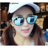 时尚椭圆半框太阳镜 复古花纹腿边框架 潮人眼镜简约舒适 男女情侣眼镜