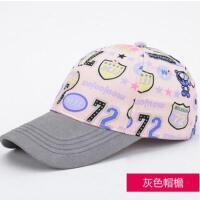棒球帽子女网红同款时尚韩版潮防晒遮阳帽户外运动新品印花女士鸭舌帽 韩国潮