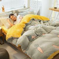 君别床上四件套网红款床单珊瑚绒冬季加厚法兰绒被套ins风用品