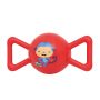 【当当自营】费雪FisherPrice 糖果摇铃球皮球婴幼儿手抓球充气发声铃铛球手柄球摇摇球F0902红色