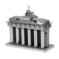 爱拼 全金属DIY拼装模型3D纳米立体拼图 勃兰登堡门 帝国大厦 西雅图太空针